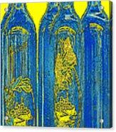 Antibes Blue Bottles Acrylic Print by Ben and Raisa Gertsberg