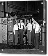 Antiproton Discovery Team Acrylic Print by Science Photo Library