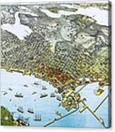 Antique 1891 Seattle Map Acrylic Print by Dan Sproul