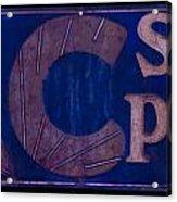 Antique Ac Spark Plug Sign Acrylic Print
