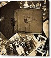 Antique Autograph And Photo Albums And Photos Acrylic Print by Amy Cicconi