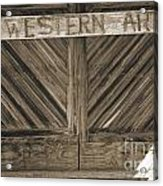 Antique Barn Doors In Sepia Black And White 3003.01 Acrylic Print