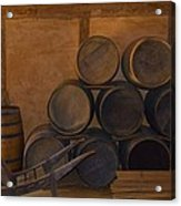 Antique Barrels And Carte Acrylic Print by Richard Jenkins
