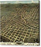 Antique Bird's-eye View Map Of Atlanta 1871 Acrylic Print