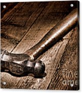 Antique Blacksmith Hammer Acrylic Print by Olivier Le Queinec