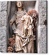 Antique Blessed Virgin Statue Acrylic Print