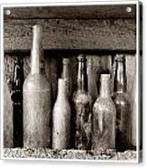 Antique Bottles Acrylic Print