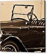 Antique Car In Sepia 1 Acrylic Print