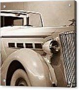 Antique Car In Sepia 2 Acrylic Print