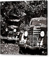 Antique Cars Black And White Acrylic Print