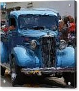 Antique Chevy Truck In Parade Acrylic Print