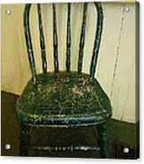 Antique Child's Chair With Quilt Acrylic Print