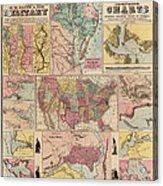 Antique Civil War Map By Egbert L. Viele - Circa 1861 Acrylic Print by Blue Monocle
