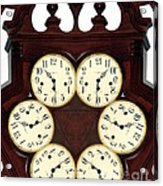 Antique Clock Abstract . Standard Acrylic Print by Renee Trenholm