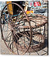Fayetteville Texas Rings And Wheels Acrylic Print