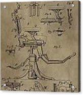 Antique Dental Chair Patent Acrylic Print