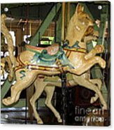Antique Dentzel Menagerie Carousel Cat Acrylic Print by Rose Santuci-Sofranko