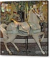 Antique Dentzel Menagerie Carousel Horse Colored Pencil Effect Acrylic Print by Rose Santuci-Sofranko