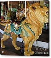 Antique Dentzel Menagerie Carousel Lion Acrylic Print by Rose Santuci-Sofranko
