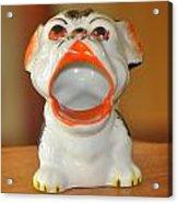 Antique Dog Ashtray Acrylic Print