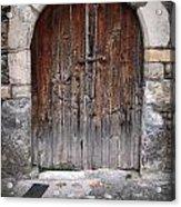 Antique Door Wood Acrylic Print