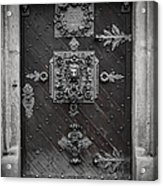 Antique Doors In Budweis Acrylic Print