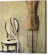 Antique Dress Form And Chair With Vintage Feeling Acrylic Print