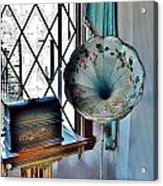 Antique Edison Phonograph In The Boardwalk Plaza Lobby - Rehoboth Beach Delaware Acrylic Print