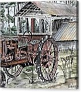 Antique Farm Tractor   Acrylic Print