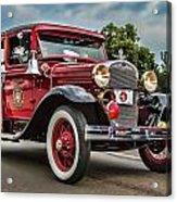 Antique Fire Engine Acrylic Print