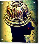 Antique Vintage Fire Hydrant - Multi-colored Acrylic Print