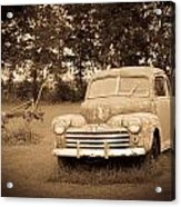 Antique Ford Car Sepia 2 Acrylic Print