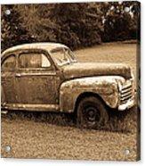 Antique Ford Car Sepia 4 Acrylic Print