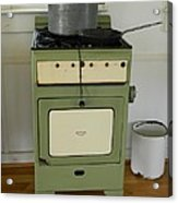 Antique Green Stove And Pressure Cooker Acrylic Print