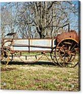 Antique Hay Bailer 3 Acrylic Print by Douglas Barnett