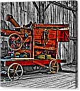 Antique Hay Baler Selective Color Acrylic Print