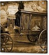 Antique Hearse As Tintype Acrylic Print by Crystal Loppie