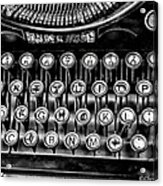 Antique Keyboard - Bw Acrylic Print