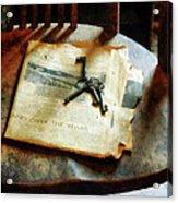 Antique Keys On Newspaper Acrylic Print