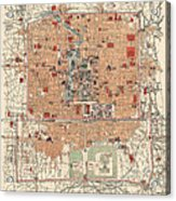 Antique Map Of Beijing China - 1914 Acrylic Print
