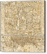 Antique Map Of Beijing China - 1938 Acrylic Print by Blue Monocle