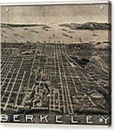 Antique Map Of Berkeley California By Charles Green - Circa 1909 Acrylic Print