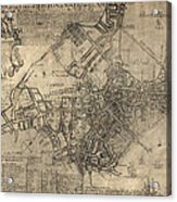 Antique Map Of Boston By William Price - 1769 Acrylic Print