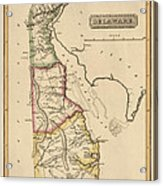Antique Map Of Delaware By Fielding Lucas - Circa 1817 Acrylic Print