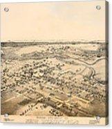 Antique Map Of New Braunfels Texas 1881 Acrylic Print