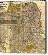 Antique Map Of San Francisco 1932 Acrylic Print