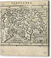 Antique Map Of Scotland By Abraham Ortelius - 1603 Acrylic Print by Blue Monocle