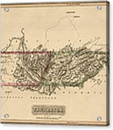 Antique Map Of Tennessee By Fielding Lucas - Circa 1817 Acrylic Print
