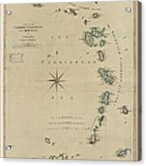 Antique Map Of The Caribbean - Lesser Antilles - By Mathew Richmond - 1789 Acrylic Print
