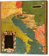 Antique Map Of The Dalmatian Shore 1578 Acrylic Print